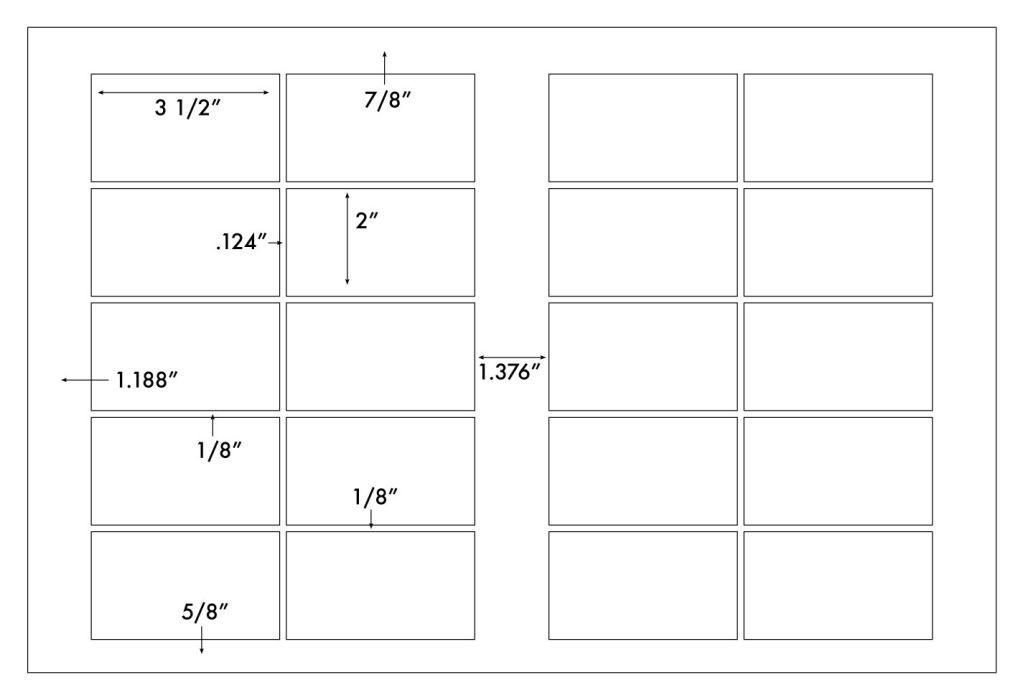 GF6021DMGW 10 UP - Business Cards - 3 1/2 x 2 - 2 Wide - 12 x 18 ...
